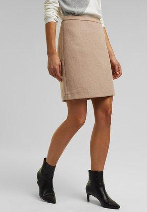 FASHION - A-line skirt - beige