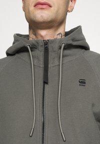 G-Star - TONAL JIRGI HOOD  - Zip-up hoodie - honeycomb jersey io - gs grey - 4