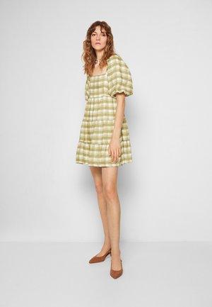 LEILANI MINI DRESS - Day dress - ligne/olive
