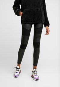 Urban Classics - LADIES FAKE TECH - Leggings - black - 3