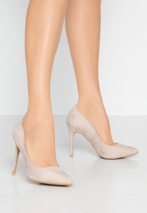 High heels - taupe