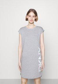 DKNY - FOUNDATION LOGO DRESS - Day dress - heather grey - 0