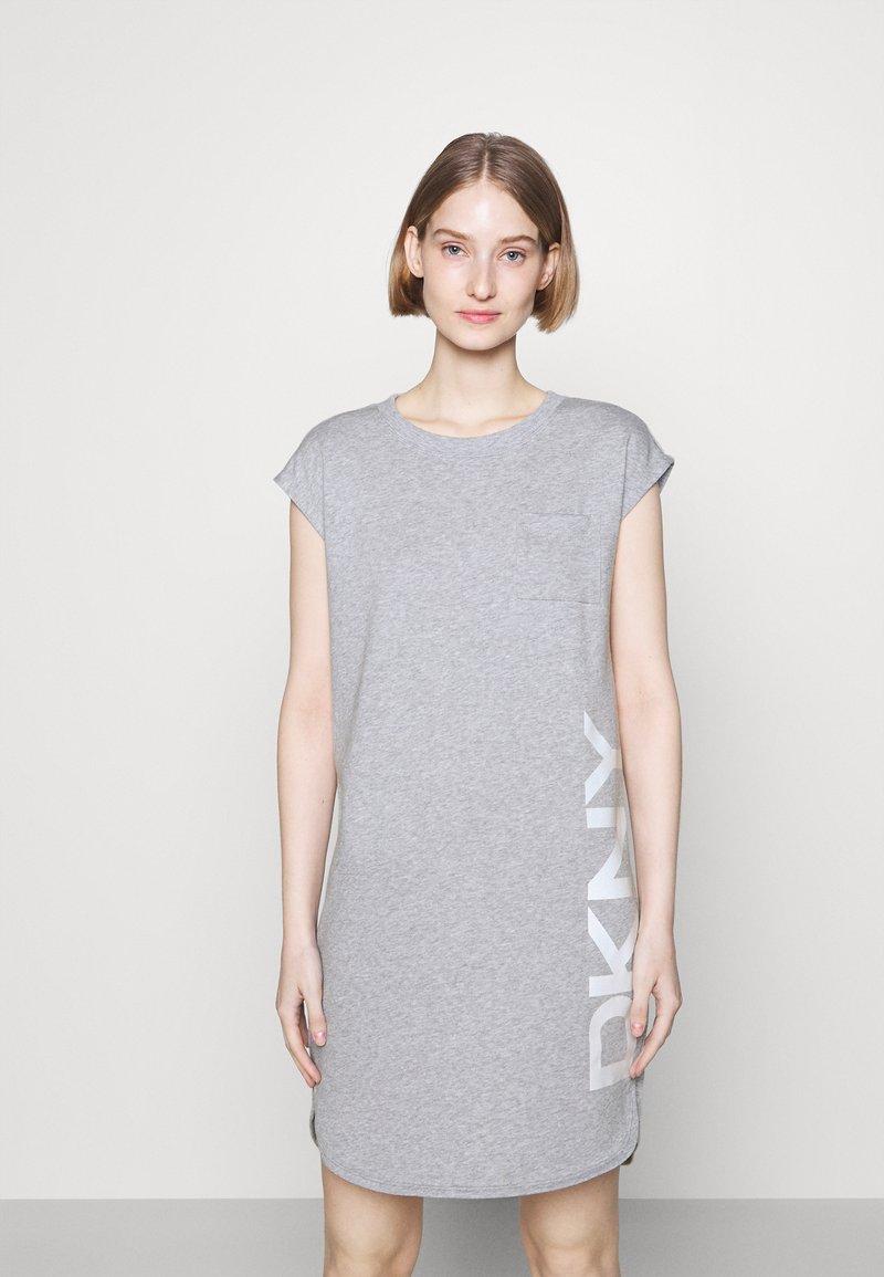 DKNY - FOUNDATION LOGO DRESS - Day dress - heather grey