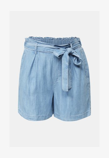 Shorts - BLUE BLEACHED