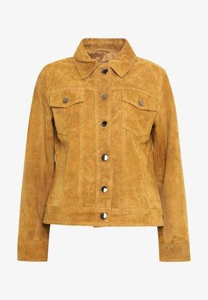 PHILIPPA JACKET - Leather jacket - cognac