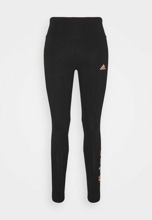 Leggings - black/ambient blush