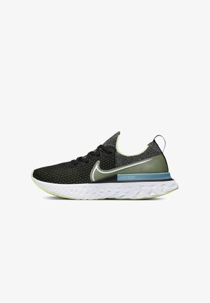 EPIC PRO REACT FLYKNIT - Scarpe running neutre - black/barely volt/glacier ice/white