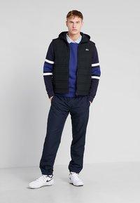 Lacoste Sport - SWEATER - Sweatshirt - ocean/navy blue/white - 1