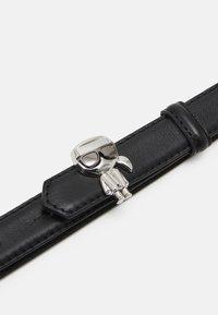 KARL LAGERFELD - IKONIK PIN BELT - Belt - black - 2