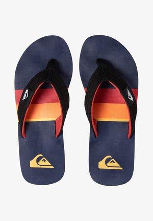 MOLOKAI LAYBACK - T-bar sandals - black/red/blue