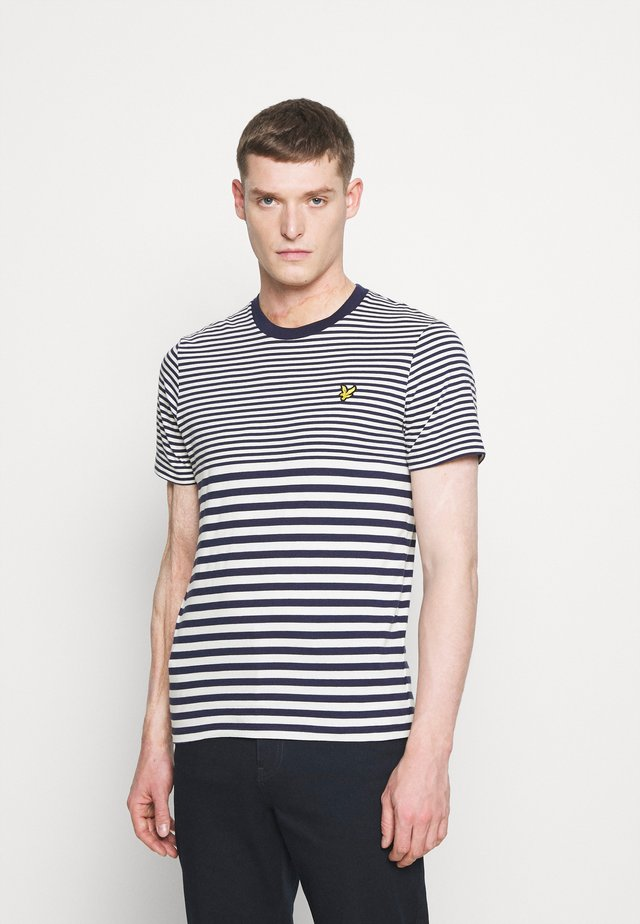 MULTI STRIPE - T-shirt med print - navy/vanilla ice