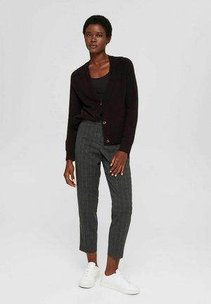CROPPED MIT ELASTIKBUND - Trousers - dark grey
