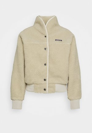 SNAP FRONT RETRO - Fleece jacket - pelican