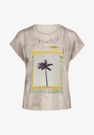 T-shirt imprimé - nature yellow
