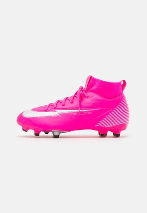 JR MERCURIAL 7 ACADEMY MG MBAPPÉ - Chaussures de foot à crampons - pink blast/white/black