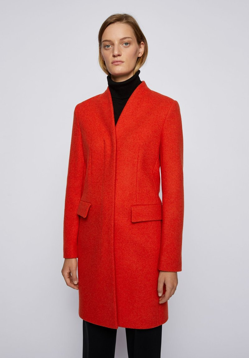 BOSS - Classic coat - dark orange