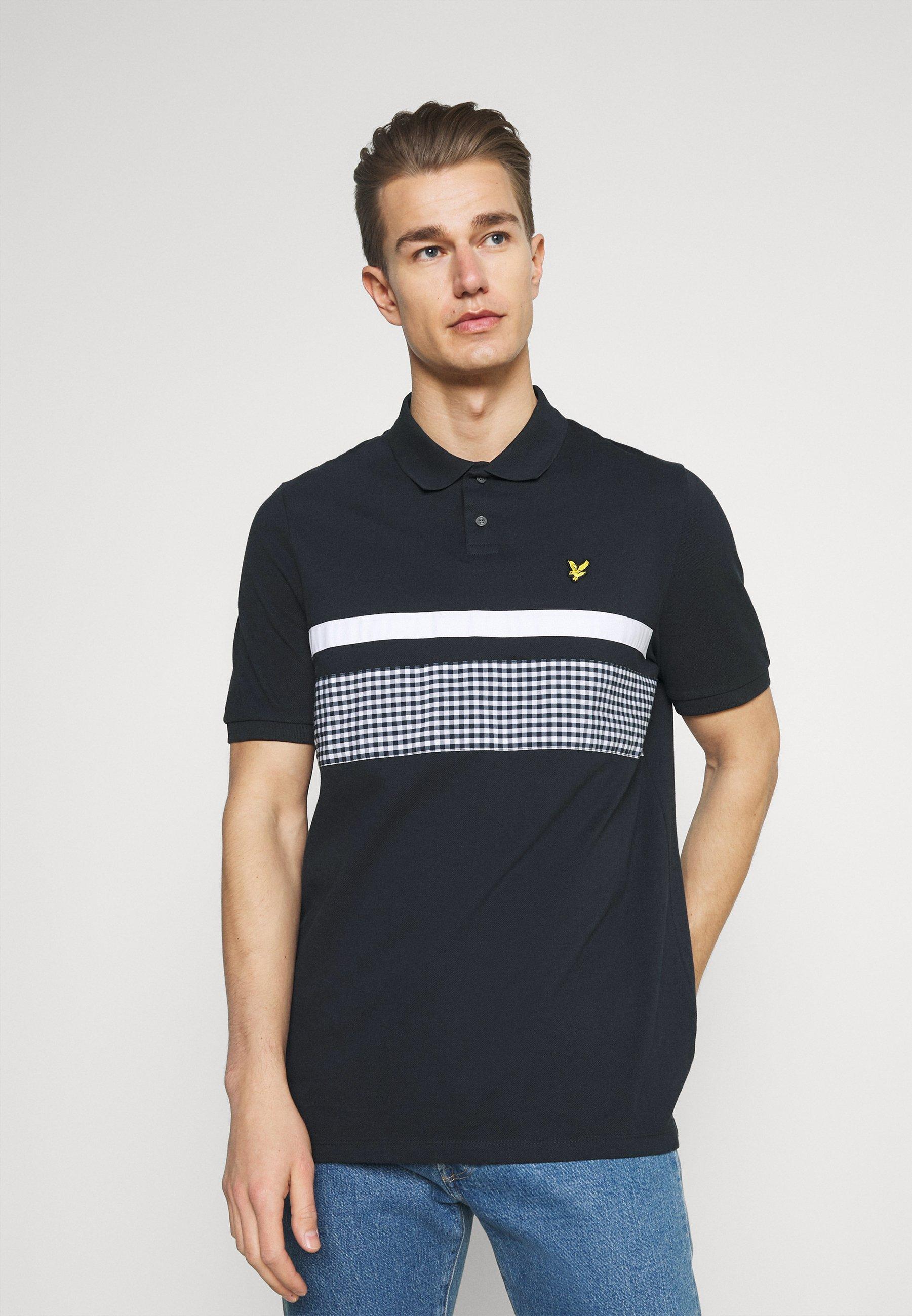 Men GINGHAM YOKE STRIPE  - Polo shirt