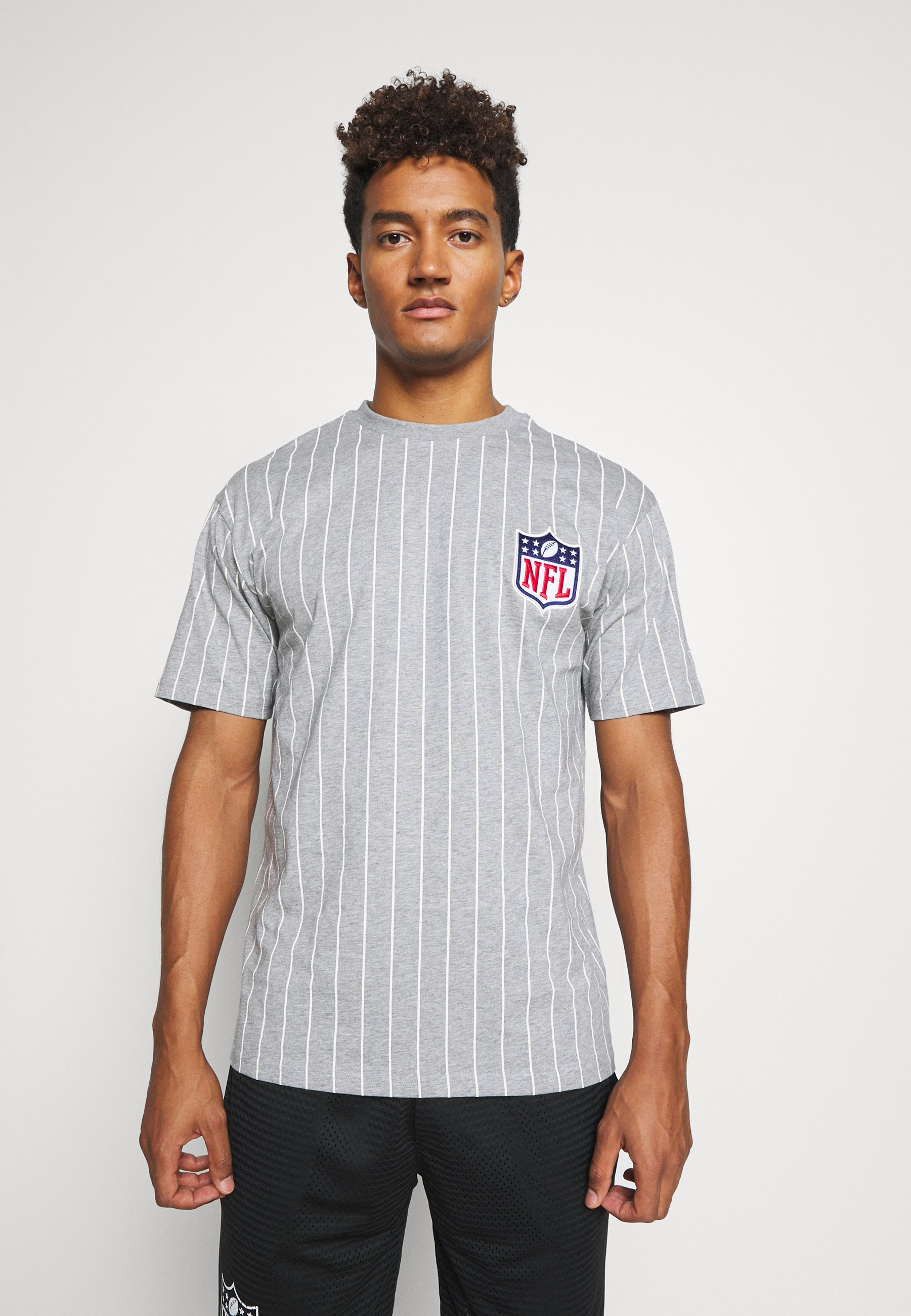 Men NFL PINSTRIPE LEFT LOGO TEE - Print T-shirt