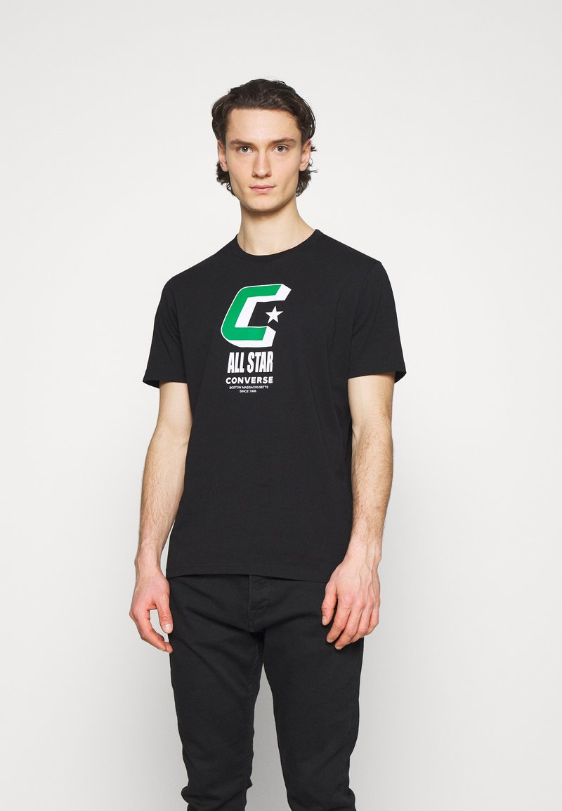 Converse - BALL TEE - Print T-shirt - black