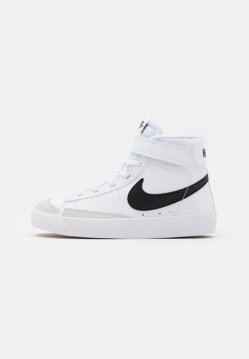 Nike Sportswear - BLAZER MID '77 UNISEX - Korkeavartiset tennarit - white/black/total orange