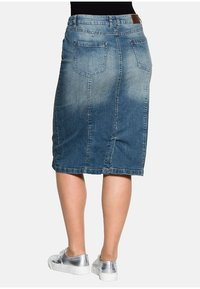 Sheego - Denim skirt - blue denim - 2
