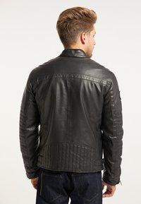 Petrol Industries - BIKERJACKE - Leather jacket - black - 2