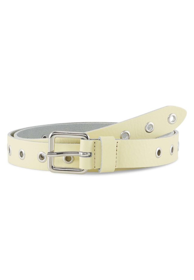 MIT LOCHNIETEN - Belt - light yellow