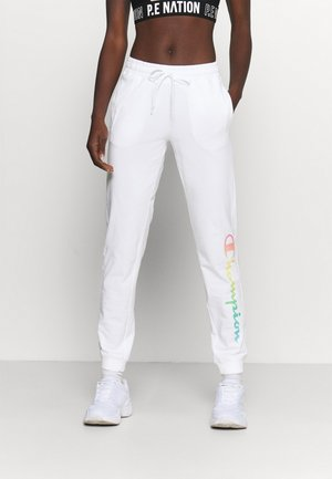 RIB CUFF PANTS - Tracksuit bottoms - white