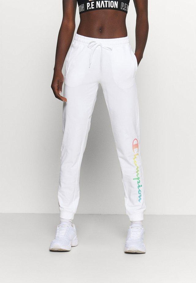 RIB CUFF PANTS - Jogginghose - white