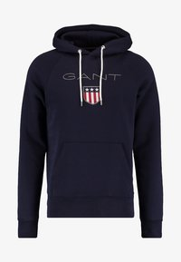 GANT - SHIELD HOODIE - Jersey con capucha - evening blue - 4