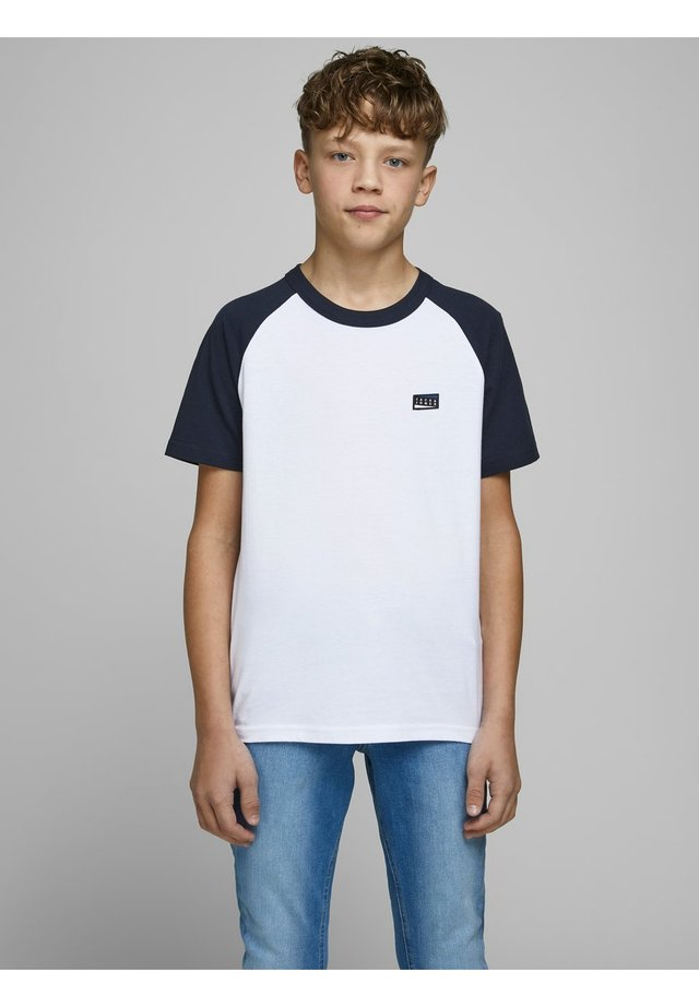 JUNGS COLOURBLOCKING - Print T-shirt - white