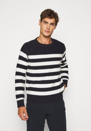 PLACED STRIPE - Jersey de punto - royal indigo