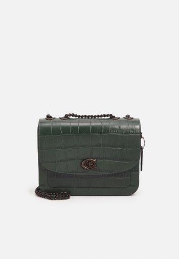 EMBOSSED CROC MADISON SHOULDER BAG - Handbag - everglade