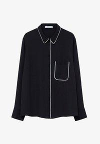 Violeta by Mango - PIPING - Button-down blouse - schwarz - 4