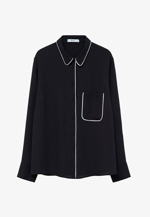 PIPING - Button-down blouse - schwarz