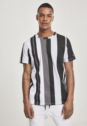 VERTICAL BLOCK - Print T-shirt - black