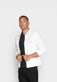 Calvin Klein Jeans - SLIM 2 PACK - T-shirt - bas - bright white/black beauty - 0