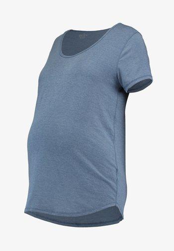 MATERNITY GYM TEE - Basic T-shirt - steel blue marle