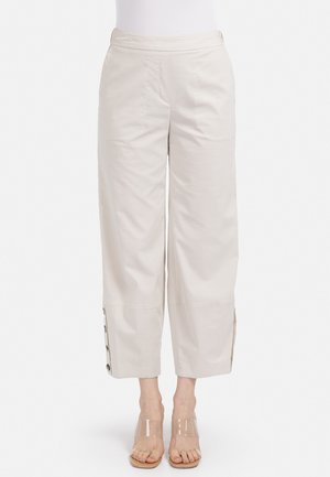GUMMIBUND - Trousers - hellbeige