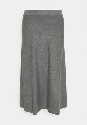 STINA - A-line skirt - medium grey melange