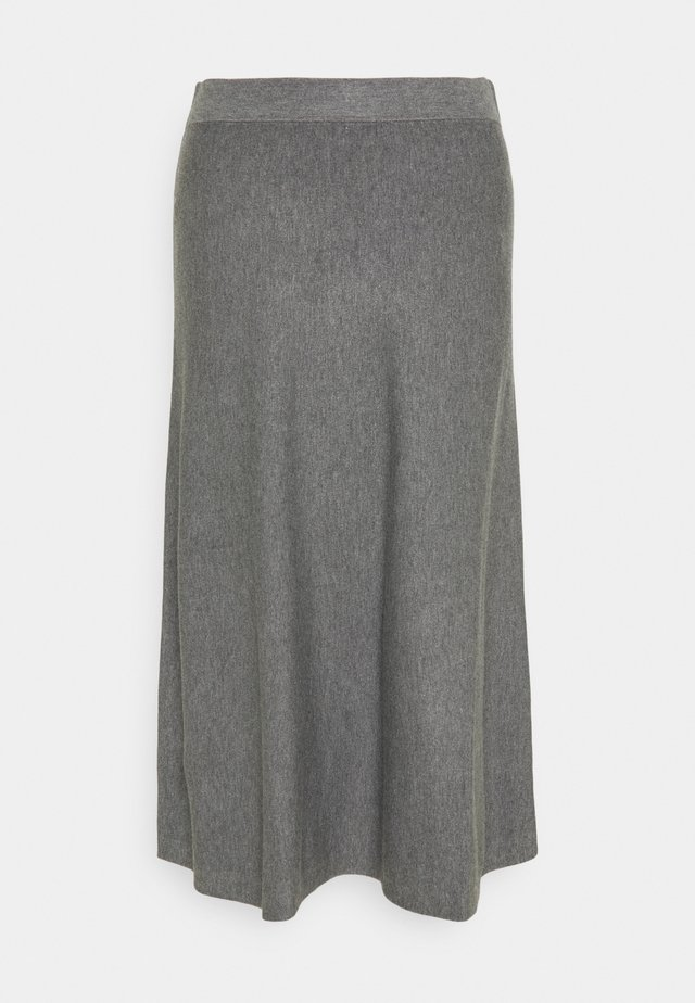 STINA - Falda acampanada - medium grey melange