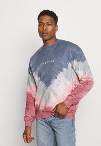 Kaotiko - UNISEX- CREW TIE DYE BUSTER - Sweatshirt - dark blue - 0