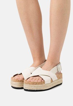 VEGAN JANNIKE - Platform sandals - white dusty light