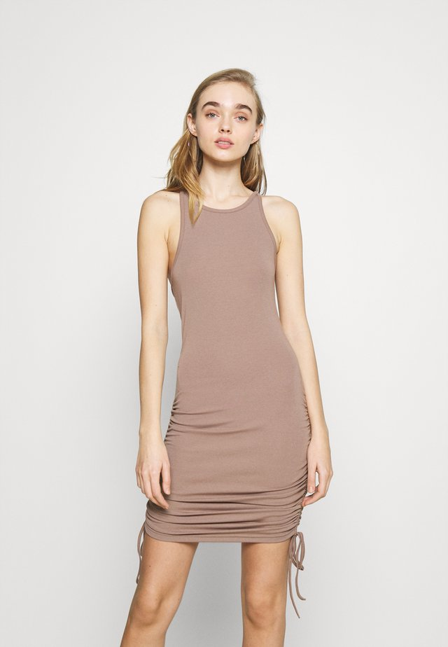 MEGAN DRESS - Jerseyjurk - mocha