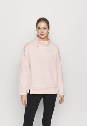 Sweater - pink tint/white