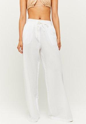 HIGH WAIST  - Trousers - white