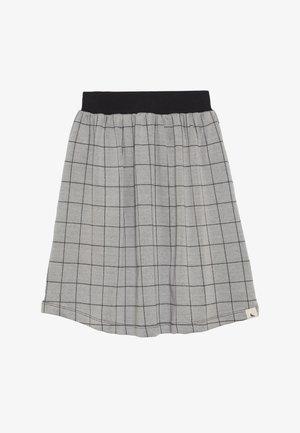 CHECK MIDI SKIRT - Áčková sukně - grey/black