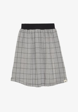 CHECK MIDI SKIRT - A-line skirt - grey/black