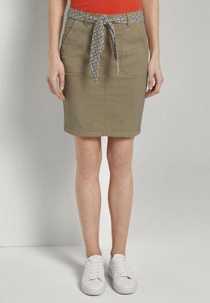 Pencil skirt - cream toffee