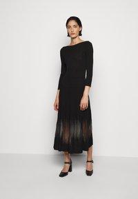 Patrizia Pepe - DRESS SEE THROUGH - Jumper dress - nero - 0